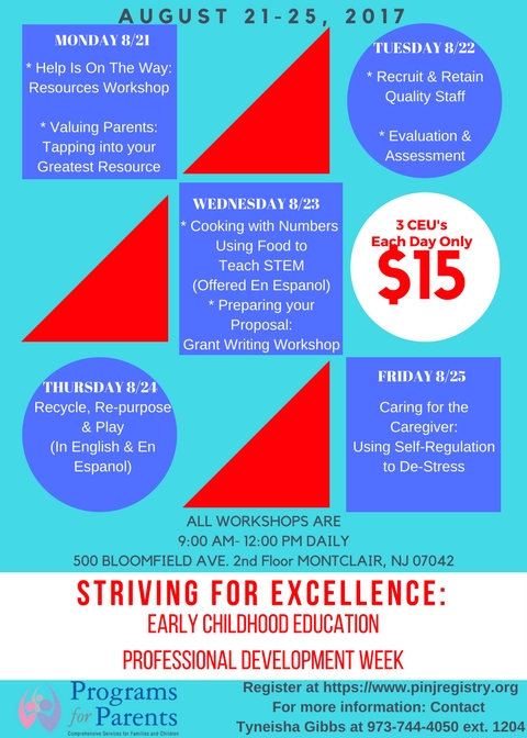 Striving For Excellence Professional Development Week 2017