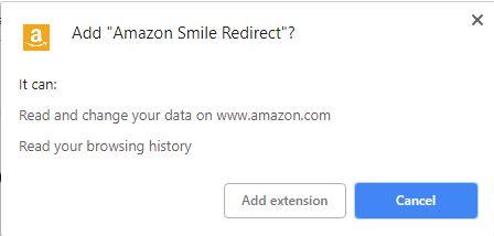 amazon smile chrome extension